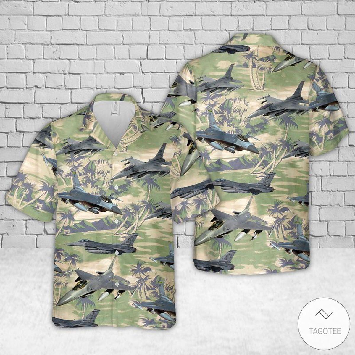Air Force General Dynamics F-16 Fighting Falcon Hawaiian Shirt, Beach Shorts