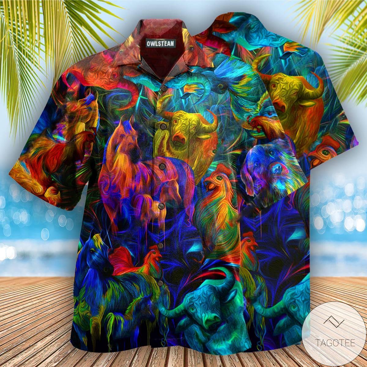 Animal Cow Heinz Hawaiian Shirt