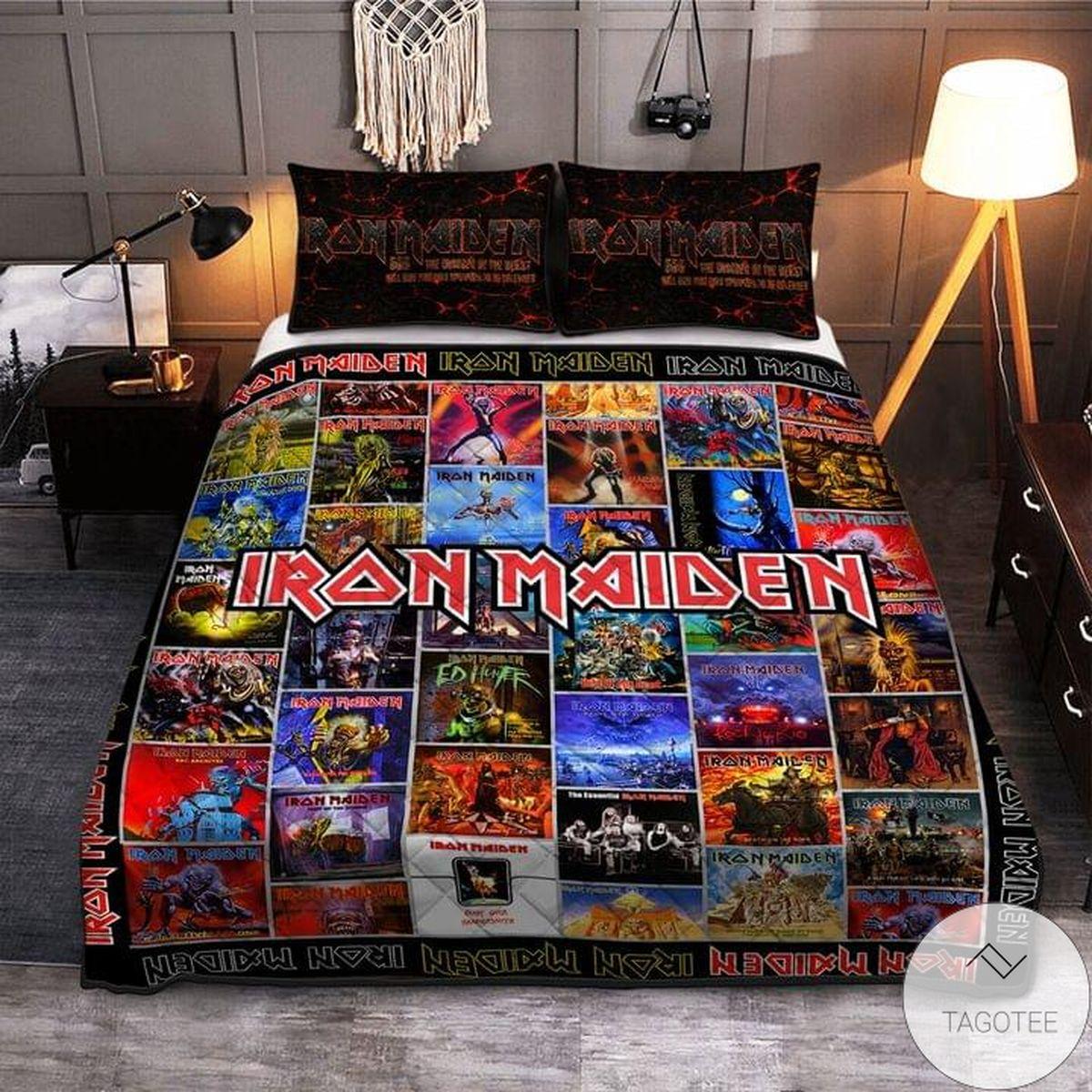 Iron Maiden Pattern Quilt Bedding Set