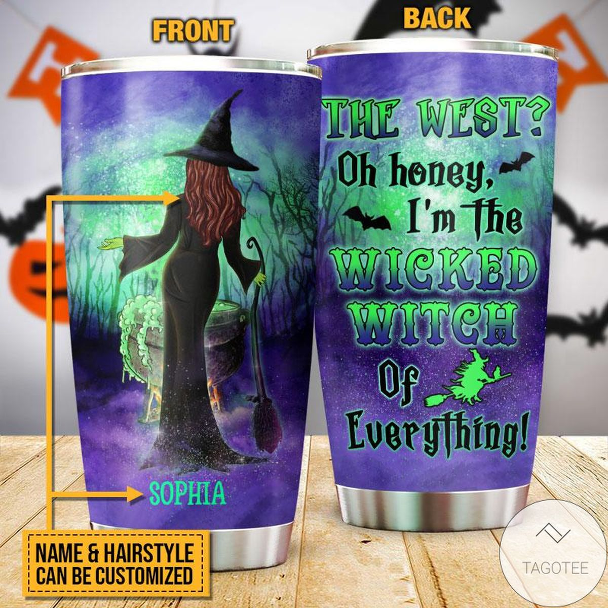 Personalized Witch The West Oh Honey Halloween Tumbler