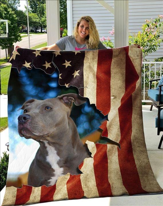 Pitbull-American-Flag-Fleece-Blanket