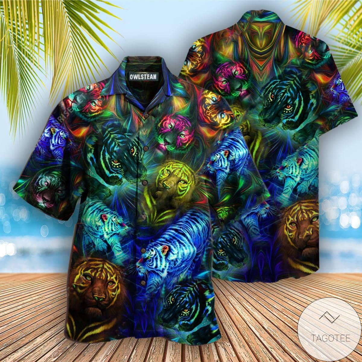 Tigers Noctilucent Hawaiian Shirt